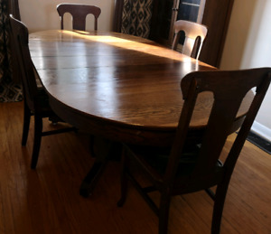 Antique oak dining set early 1900s