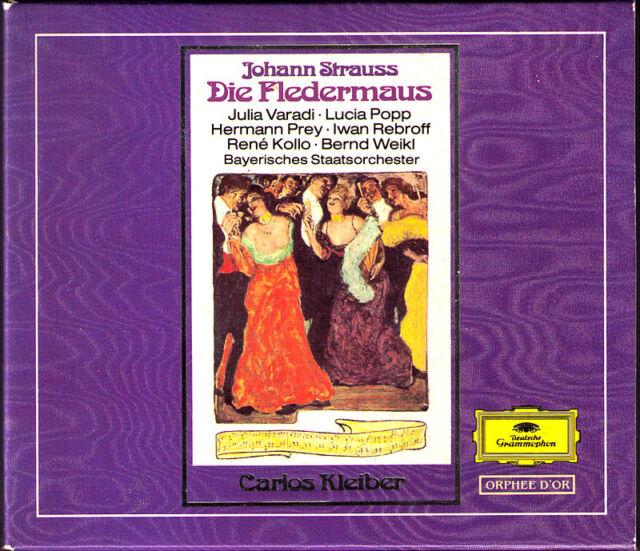 STRAUSS: DIE FLEDERMAUS Rene Kollo Lucia Popp Ivan Rebroff CARLOS KLEIBER DG 2CD