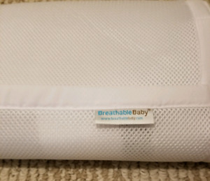 Crib breathable bumpers and grey Chevron crib skirt