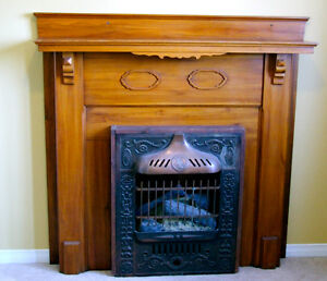 Vintage Fireplace Mantle and insert