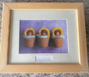 **ANNE GEDDES BABY PIC IN WOODEN FRAME FOR SALE**