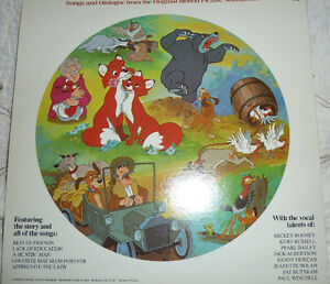 Walt Disney Fox and the Hound picture disc