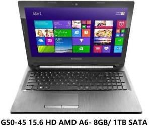 Lenovo G50-45 15.6 inch HD/AMD A6/8GB Ram /1TB Hard Drive Windo Doveton Casey Area Preview