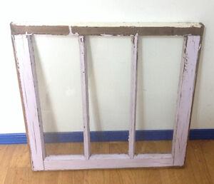 VINTAGE 3 PANE WINDOW