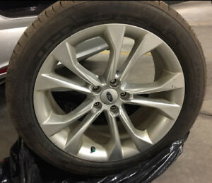 "4 tires 255/45/19 with 19"" Alloy rims OEM for Ford"