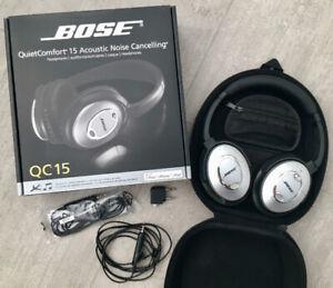 Bose QC15 / QuietComfort 15 / Noise Cancelling  headphones
