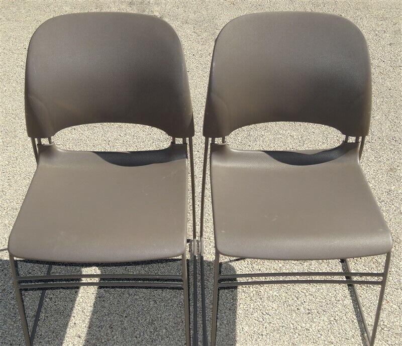 2 Herman Miller Limerick Stacking Chairs
