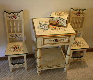 Two Handpainted Floral Child's/Doll Chairs Peterborough Peterborough Area image 4
