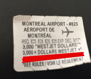 McDonalds 2017 Monopoly 1 of 50 Airport piece (Montreal #823)