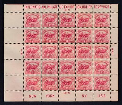 United States 630 VF NH White Plains Souvenir Sheet