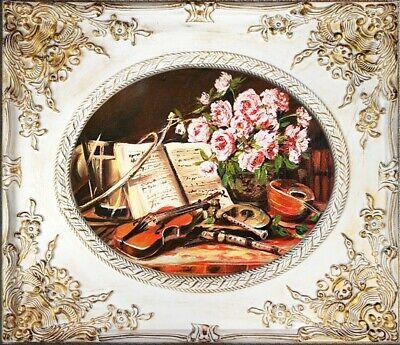 Gemälde Musikinstrumente Handarbeit Ölbild Bild Ölbilder Rahmen Bilder G02162 ()