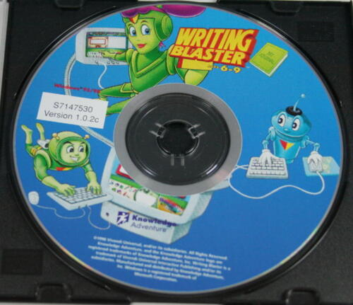 Knowledge Adventure Writing Blaster Ages 6-9 Version 1.0.2c WIN 95/98