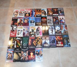 Collection of  40 VHS movies