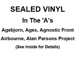 Sealed: Agebjorn, Ages, Agnostic Front, Airbourne,A Parsons Pro.
