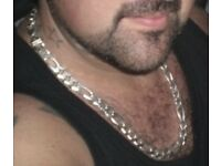 Large heavy silver chain