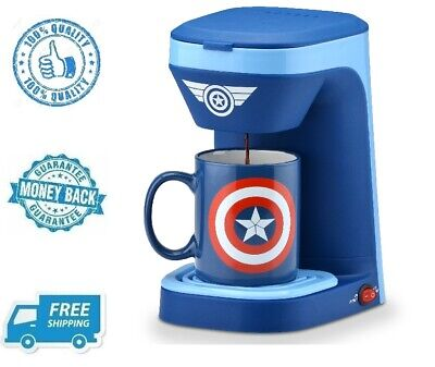 New Marvel Captain America 1 Cup Coffee Maker Hot Drink Beverage Brewer (1 Cup Hot Beverage)