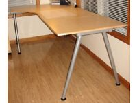 Great IKEA L-shaped corner desk. Includes extra extension part to make the desk larger if required