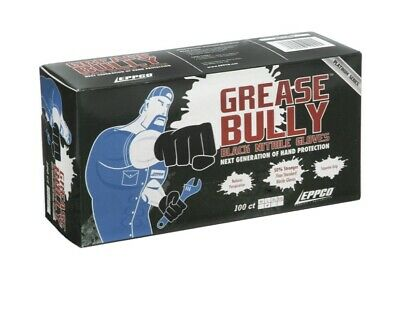 Black Nitrile Gloves Grease Bully 100 Ct Large Size