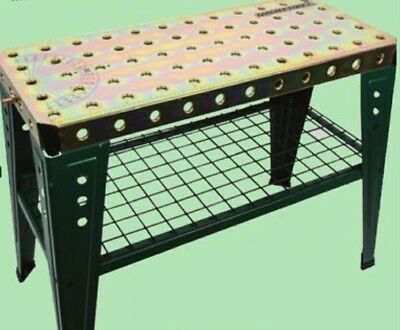 Heavy Duty 36x16 Steel Welding Table Shop Clamp Peg Holes Zinc Plated Weld Area