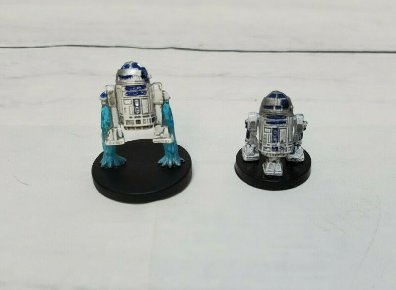 Star Wars Minitaures 14/60 Rebel 8 & 17/60 Republic 9 R2-D2