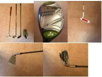 Lady's left handed golf clubs- excellent condition