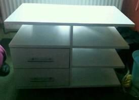 White furniture tv unit/storage