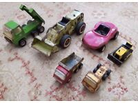 1970's TONKA TOY COLLECTION OF TOY TIPPER TRUCKS, CARS VEHICLES