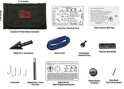 ESEE Izula Gear Escape & Evasion Wallet Kit (Survival Pouch/Special Forces/SAS)