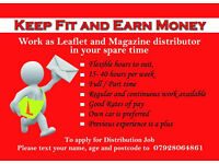 Paid weekly Leaflet / Magazine distribution regular work availiable in Leicester & nearby areas