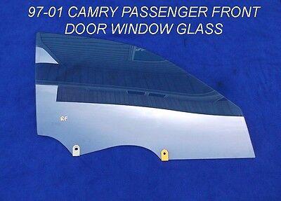 1997 - 2001 TOYOTA CAMRY PASSENGER DOOR WINDOW GLASS RIGHT SIDE FRONT OEM 97-01
