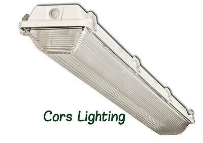 Vaporlight 4 Fluorescent Vapor Proof Light And Wet Location Fixture Fits F32t8