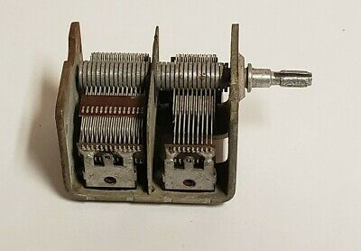Used 452pf202pf Dual Section Air Dielectric Variable Capacitor C378