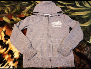 Roots salt and pepper hoodie for girls