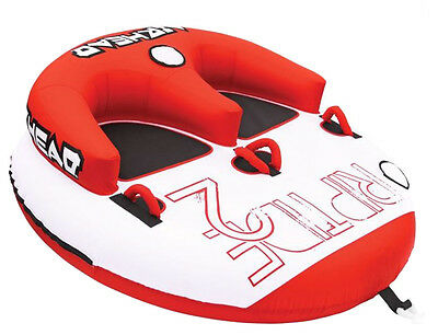 Airhead Riptide 2 Double Rider Inflatable Boat Towable Backrest Tube | AHRT-12