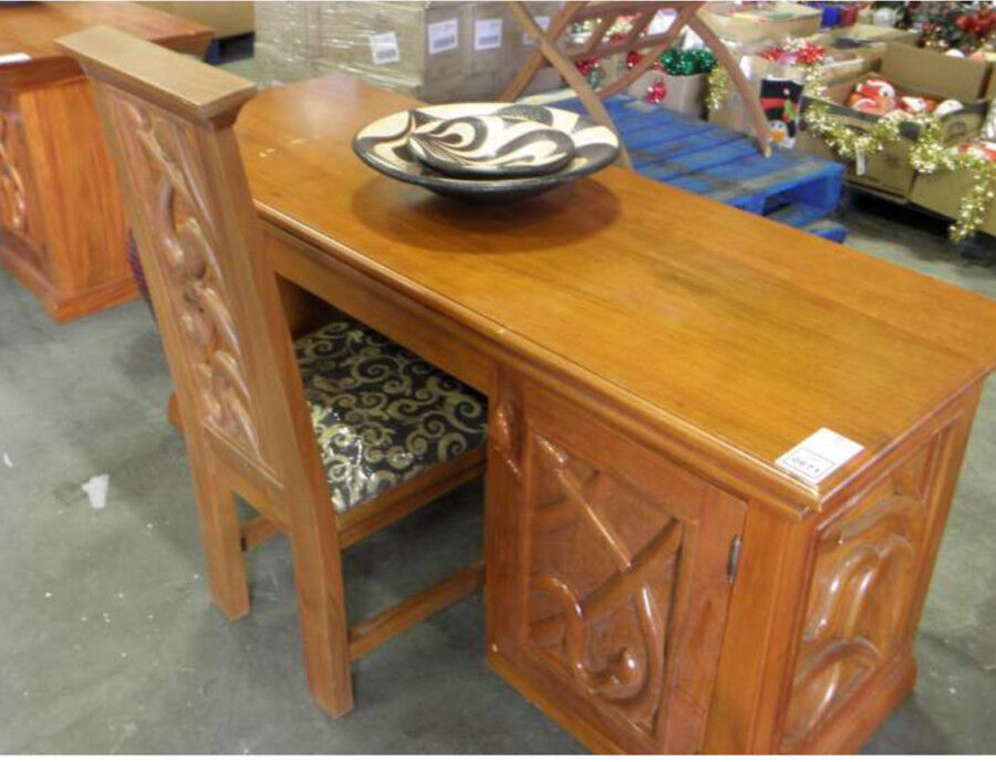 Solid mahogany desk with Chair