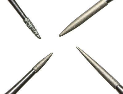 Set of 4 Professional Diamond Coated Pin Tools Cleaning & Restoring Bronze Coins
