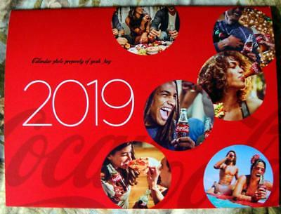 "The Official 2019 Coca-Cola Calendar 12"" x 9"" Large Date Grid"