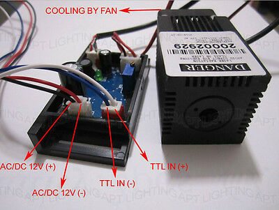 12v 650nm660nm 150mw Red Laser Diode Module With Ttl Driver Board With Fan