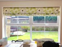 Hillarys Floral Roman Blinds x 2. Good condition. Fixings included.
