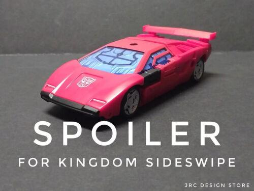 Spoiler for Kingdom Sideswipe Transformers JRC DESIGN UPGRADE KIT