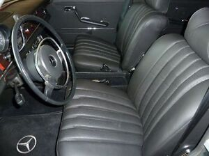 Mercedes w108 250s se 280se sel 4 5 leather front seat kit for Mercedes benz car seat covers sale