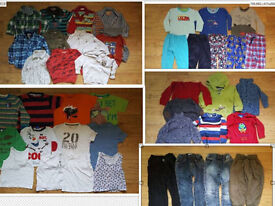 2-3 years boy clothes bundle: trousers, jeans, t-shirts, pyjamas, jumpers etc