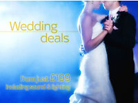 Wedding Sound and Lighting for Hire in London (Speakers, PA, Disco lighting, uplighters, projectors)