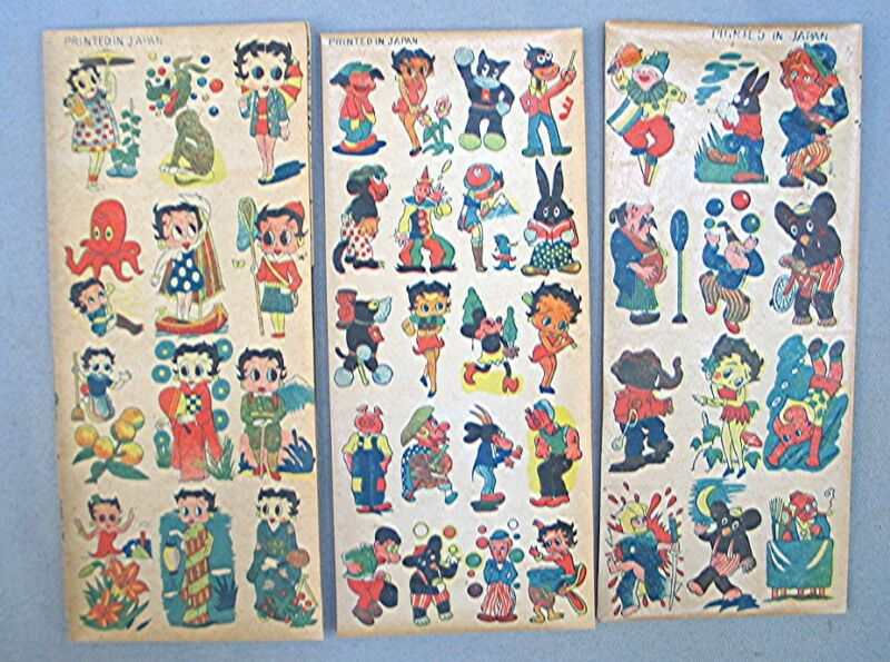 Vintage Betty Boop Temporary Tattoos -- 3 Sheets -- Japan