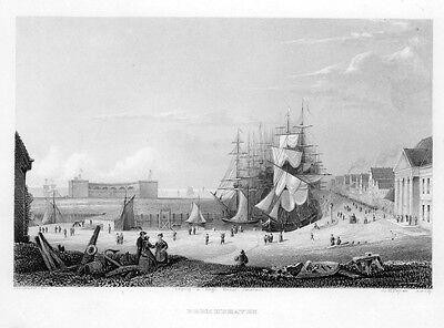 Bremerhaven, Ansicht, Stahlstich von ca. 1850