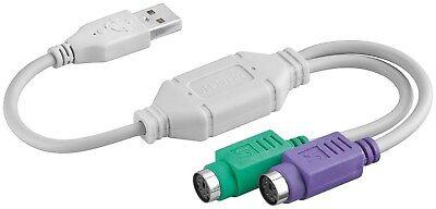 Tastatur Konverter Kabel (BIGtec USB 2x PS/2 Adapter für Maus Tastatur USB auf PS2 Konverter Kabel Adapter)