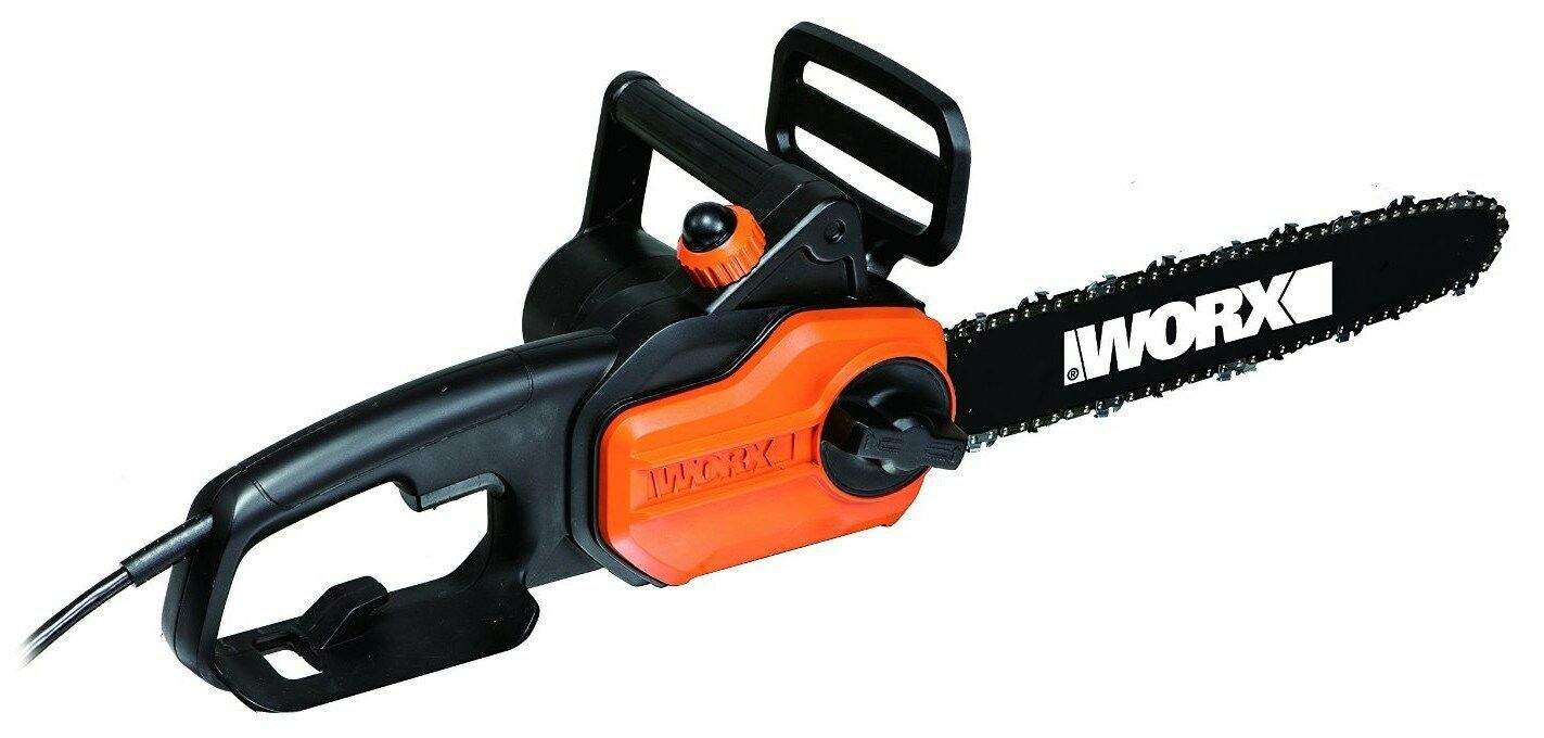 "WORX WG305.1 8 Amp 14"" Electric Chainsaw with Auto-Tension"