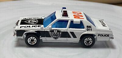 Matchbox Ford LTD Police Car White 1/64 Vintage Diecast Loose