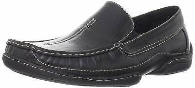 Stacy Adams MYLO Mens Black 24747-001 Leather Moc Toe Slip On Dress Shoes ()