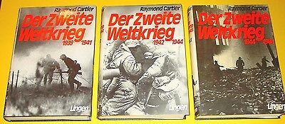 DER ZWEITE WELTKRIEG - BAND 1 , 2 + 3 / RAYMOND CARTIER / LINGEN